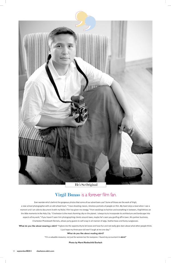 Charleston Wedding Photographers Virgil Bunao Featured: Skirt Magazine