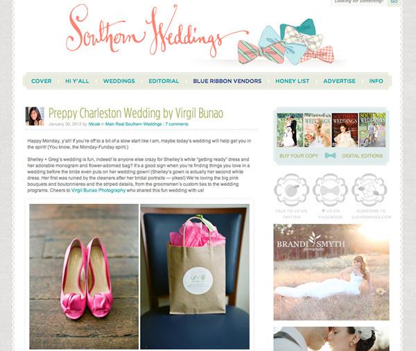 Charleston Wedding Photographers Virgil Bunao Southern Weddings Feature: Shelley + Greg