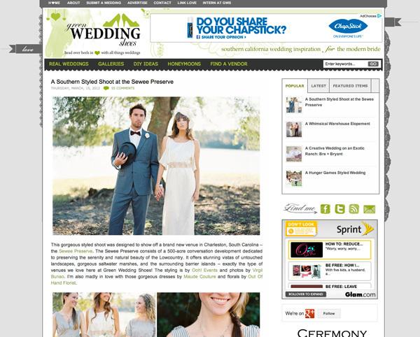 Charleston Wedding Photographers Virgil Bunao featured: green wedding shoes