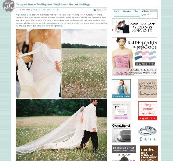 Charleston Wedding Photographers Virgil Bunao Anna Louise and Hunter on Style Me Pretty