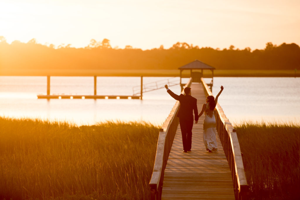 Charleston Wedding Photographers Virgil Bunao Into the Sunset