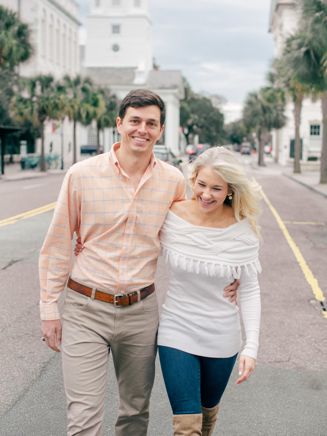 Charleston Wedding Photographers Virgil Bunao Winter Engagement Session in Downtown Charleston