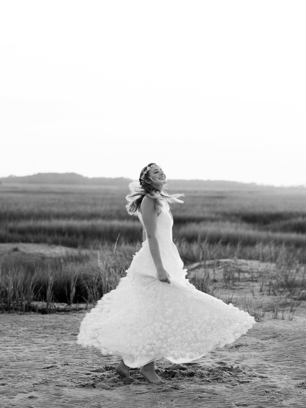 Charleston Wedding Photographers Virgil Bunao Bohemian Inspired Bridals at Folly Beach