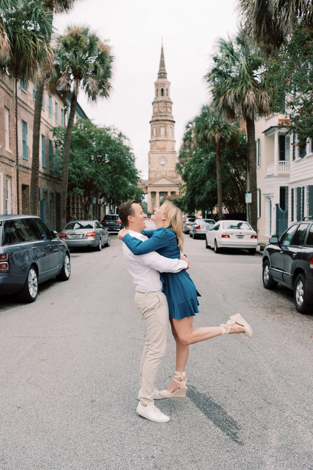 Charleston Wedding Photographers Virgil Bunao Rainy Downtown Charleston Engagement Session