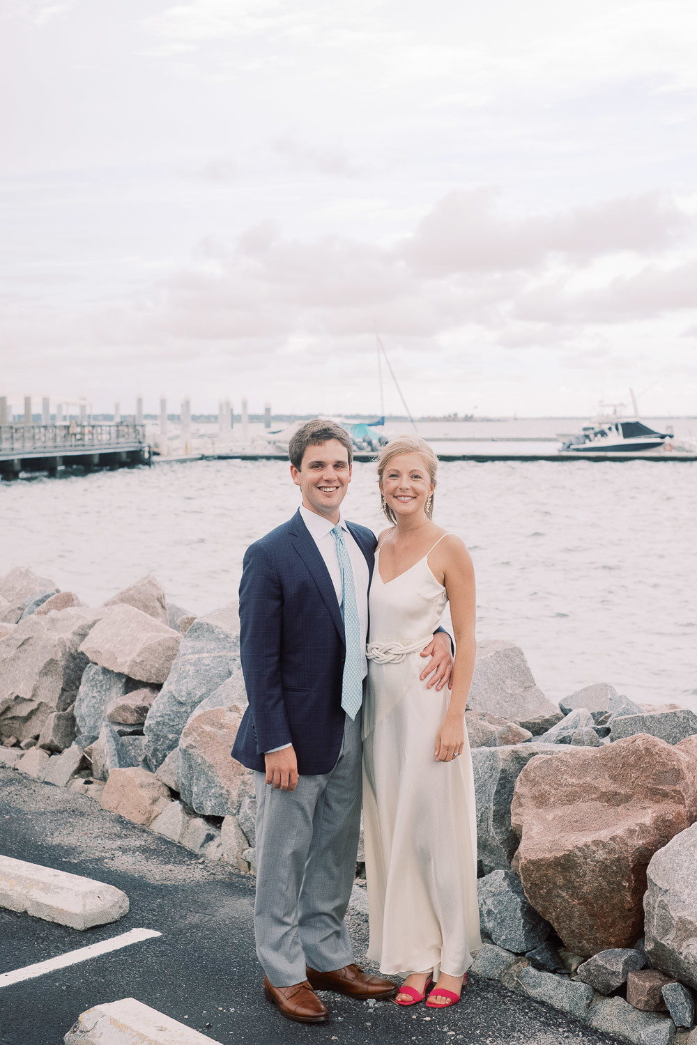 Charleston Wedding Photographers Virgil Bunao Classic White Wedding Rehearsal Dinner in Downtown Charleston