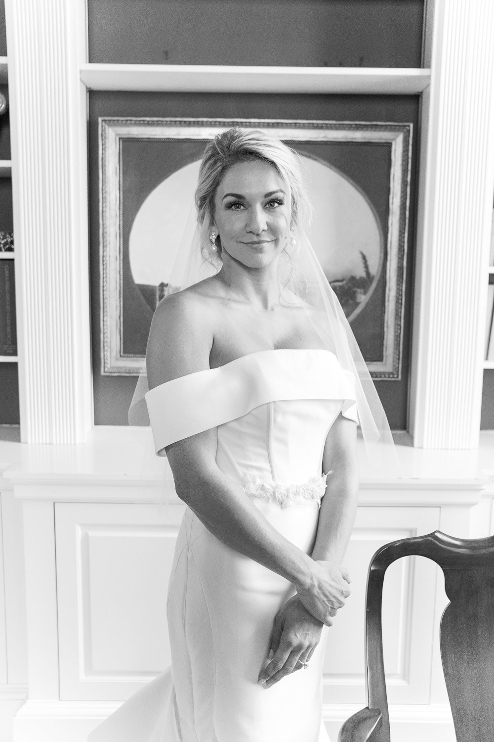 Charleston Wedding Photographers Virgil Bunao Elegant Bridal Portraits at the Thomas Bennett House